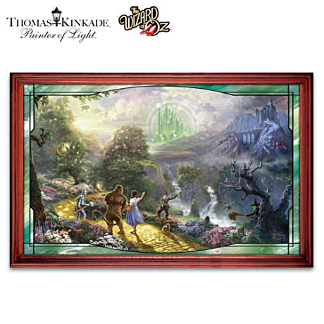 The Wizard Of Oz Illuminated Panorama By Thomas Kinkade