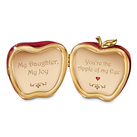 """You're The Apple Of My Eye"" Daughter Porcelain Music Box"