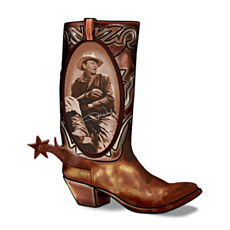 """Walking Tall"" John Wayne Boot-Shaped Table Lamp"