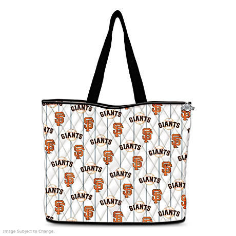 San Francisco Giants Tote With FREE Matching Cosmetic Cases