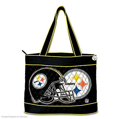 Pittsburgh Steelers Tote Bag With Two Accessory Cases