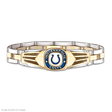Indianapolis Colts Men's Stainless Steel Bracelet