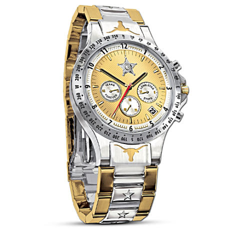 Texas Lone Star Diamond Men's Chronograph Watch