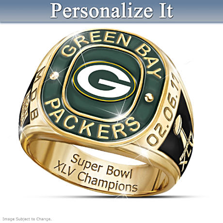Personalized Ring Honors Packers As Super Bowl XLV Champions