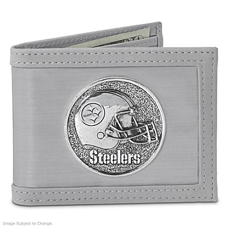 The Pittsburgh Steelers Stainless Steel Wallet