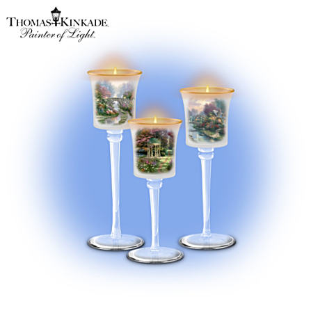 Stemware Candle Set Boasts Thomas Kinkade's High-Sought Art