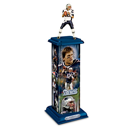 New England Patriots Tom Brady Illuminating Sculpture