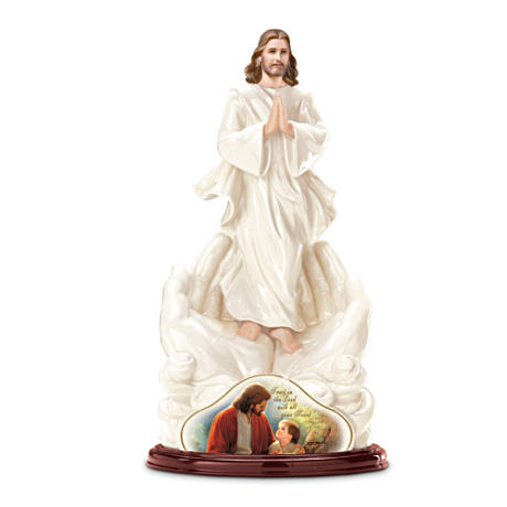 """Trust In The Lord"" Jesus Figurine With Greg Olsen Artwork"