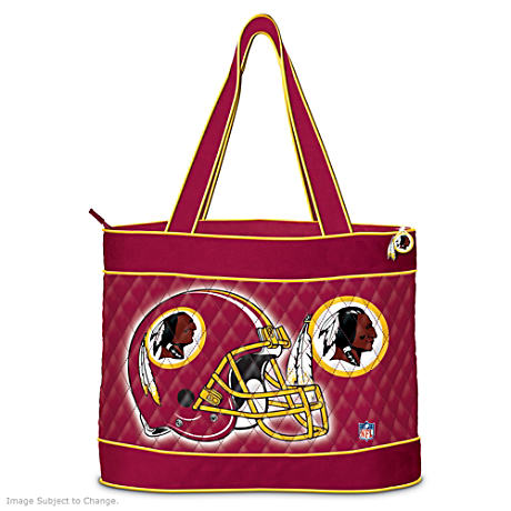 Washington Redskins Tote Bag With Free Cosmetic Cases