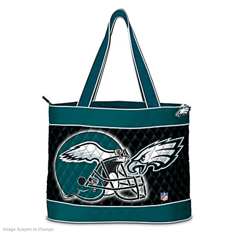 Philadelphia Eagles Tote Bag With Free Cosmetic Cases