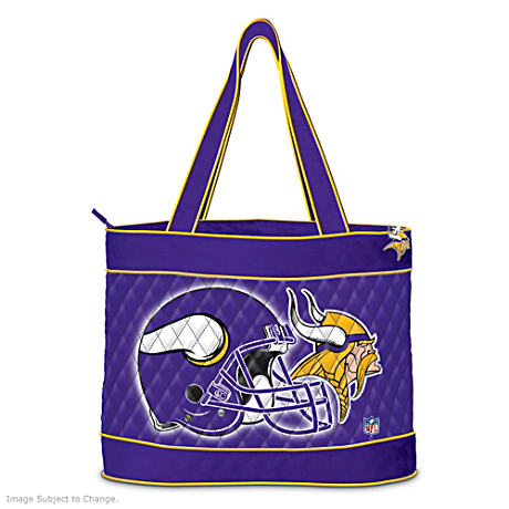 Minnesota Vikings Tote Bag With Free Cosmetic Cases
