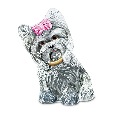 Sparkling With Personality Yorkie Sculpture