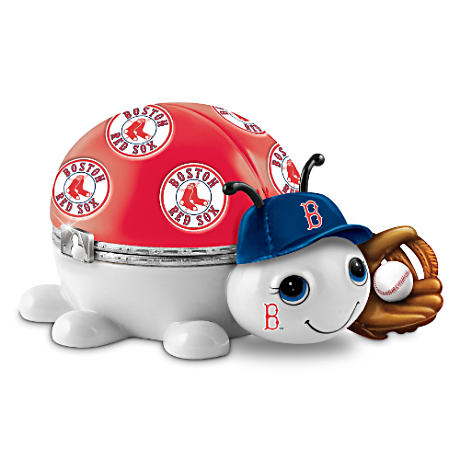 Boston Red Sox Love Bug Heirloom Porcelain Music Box