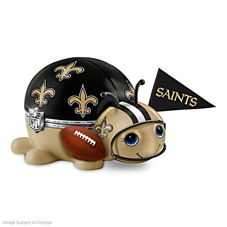 New Orleans Saints Bug Heirloom Porcelain Music Box
