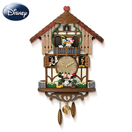 "Disney ""Sweetheart Chalet"" Musical Animated Cuckoo Clock"