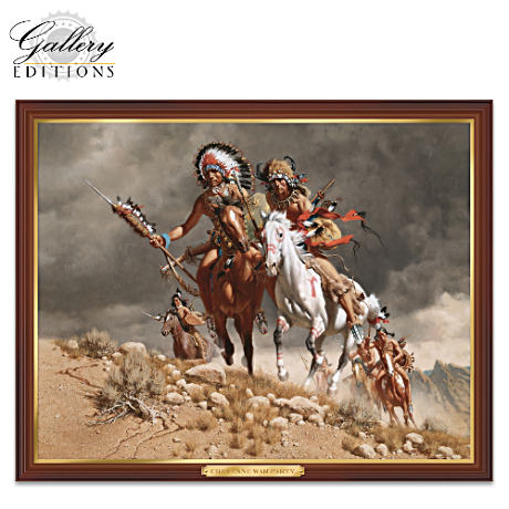 Frank McCarthy Cheyenne War Party Illuminating Canvas Print