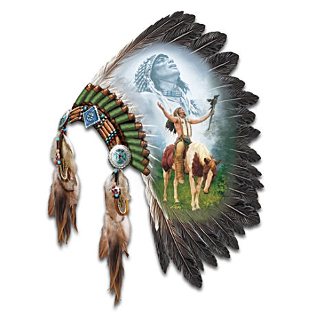 """Calling Of The Spirits"" Ceremonial Headdress Wall Decor"