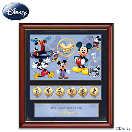 Framed Mickey Mouse 85th Anniversary Tribute Print On Canvas