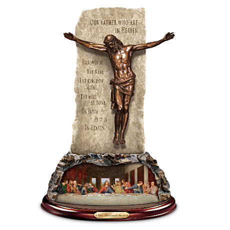 """Our Lord And Savior"" Bronzed Jesus Christ Sculpture"