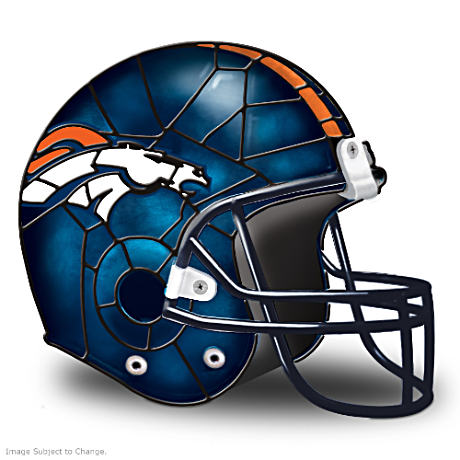 Denver Broncos Football Helmet Accent Lamp