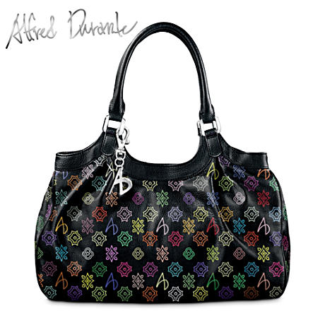 Alfred Durante Monaco Signature Handbag With A.D. Monogram