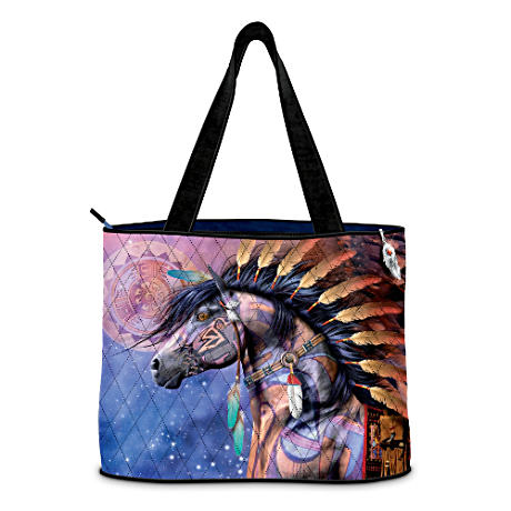 """Spirit Of The Painted Pony"" Tote With Free Cosmetic Case"
