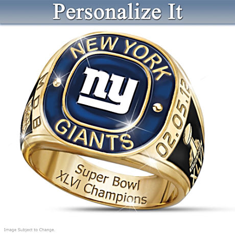 Personalized Ring Honors Giants As Super Bowl XLVI Champions