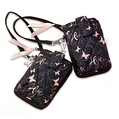 """Sharing Ribbons Of Hope"" Breast Cancer Support Wristlets"