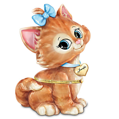Personalized Kitten Music Box For Granddaughters