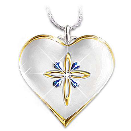 """My Blessed Daughter"" Diamond And Sapphire Pendant"