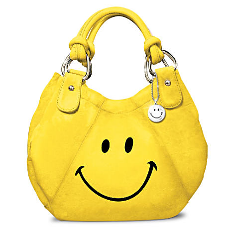 """Smile"" Fashion Handbag With Smile Face Charm"