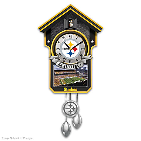 Pittsburgh Steelers Championship Legacy Tribute Cuckoo Clock