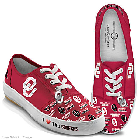 University Of Oklahoma Sooners Women's Canvas Sneakers