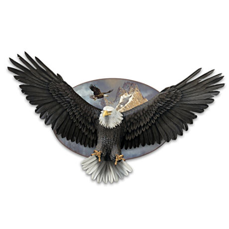 Mounted Eagle Wall Sculpture