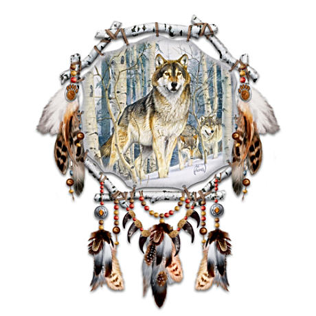 "Al Agnew ""Spirit Seeker"" Wolf Art Dreamcatcher"