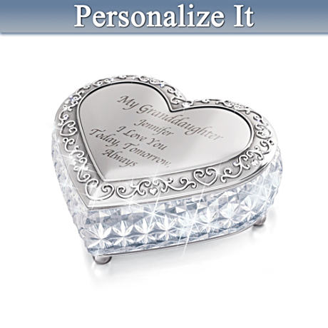 Personalized Crystal Music Box For Granddaughters