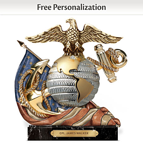 USMC Eagle, Globe And Anchor Personalized Sculpture