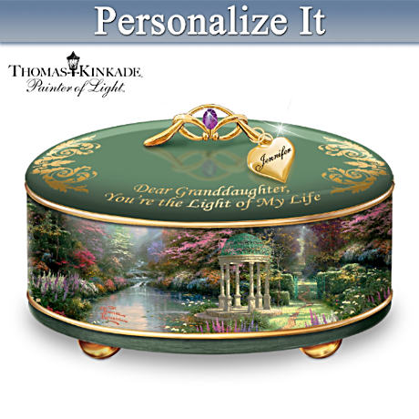 Personalized Thomas Kinkade Music Box For Granddaughters