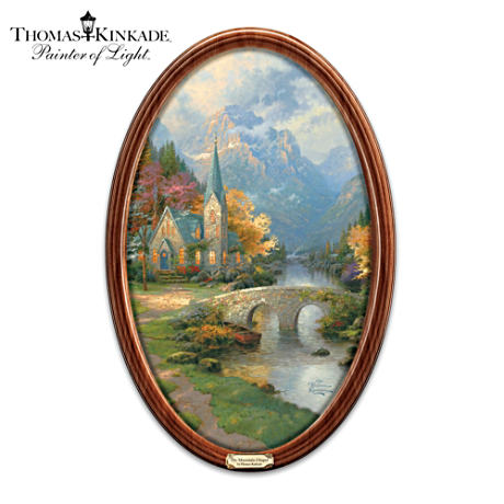 Framed Showcase Of Thomas Kinkade's Inspirational Art