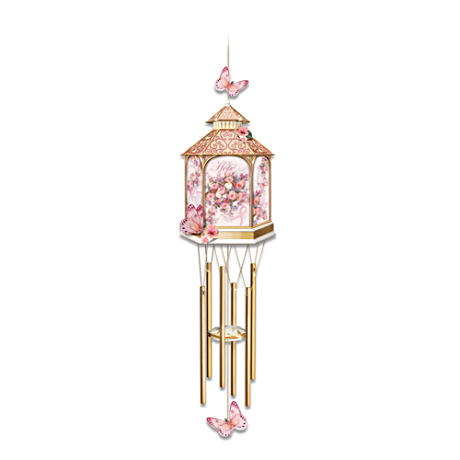Click here to buy Lena Liu Breast Cancer Awareness Garden Art Wind Chime.