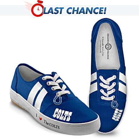 NFL-Licensed Indianapolis Colts Women's Canvas Sneakers