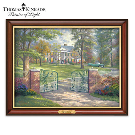 "Thomas Kinkade ""Graceland"" Illuminated Framed Canvas Print"