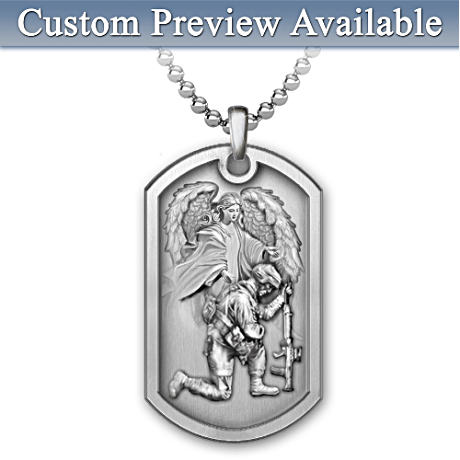 Personalized Stainless Steel Dog Tag Pendant For Soldiers