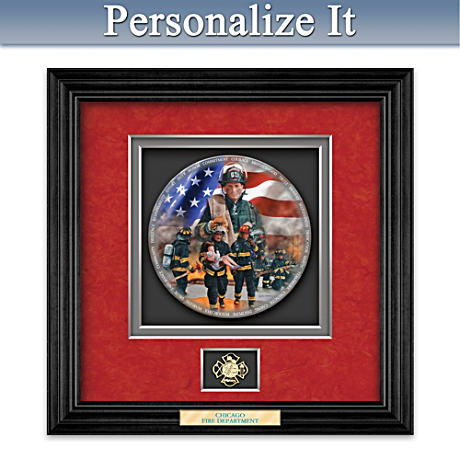 Commitment To Courage Personalized Firefighter Shadowbox