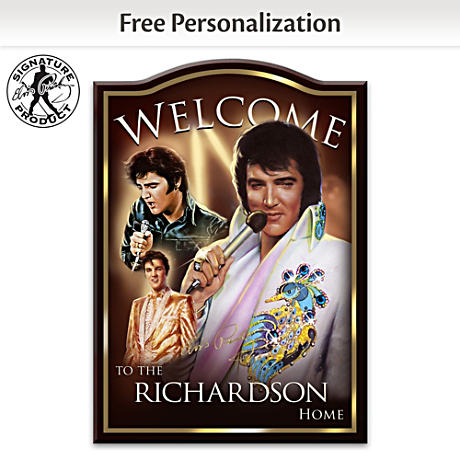 Elvis Presley Welcome Sign Personalized With Your Name
