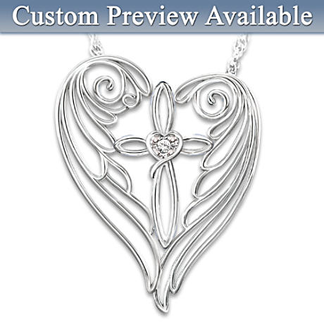 Diamond Remembrance Necklace With Personalized Charm