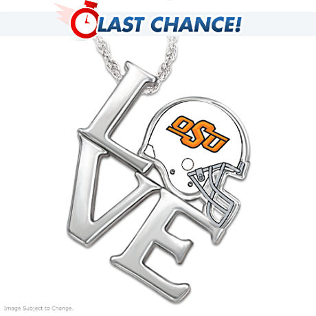 Oklahoma State University Cowboys Sterling Pendant Necklace