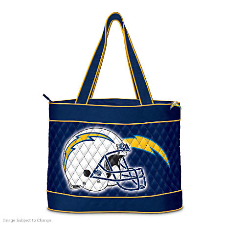 San Diego Chargers Tote Bag With Free Cosmetic Cases