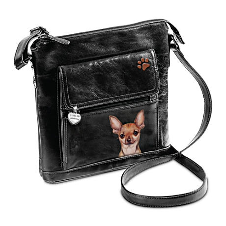 I Love My Chihuahua Crossbody Bag With Detailed Artwork