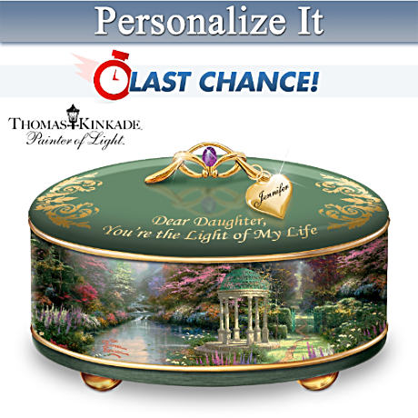 Personalized Thomas Kinkade Music Box For Daughters
